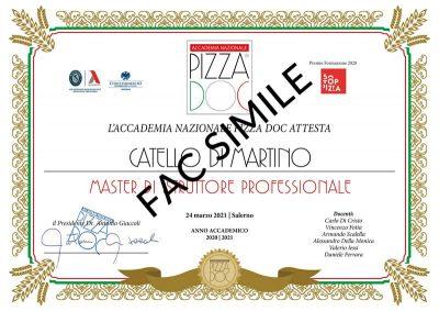 Attestato Master Istruttore - Accademia Nazionale Pizza DOC